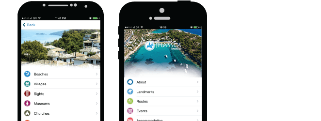 Visit Thassos mobile application
